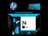 HP 74 Black ink - one cartridge, brand new in box