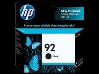 HP 92 BLACK INK BRAND NEW - FRESH INK