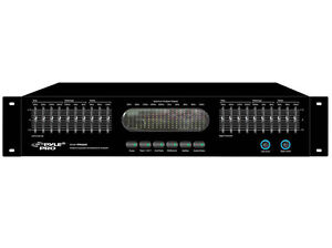 New-Pyle-PPEQ200-Dual-10-Band-Stereo-Graphic-Equalizer-EQ-w-Spectrum-Display