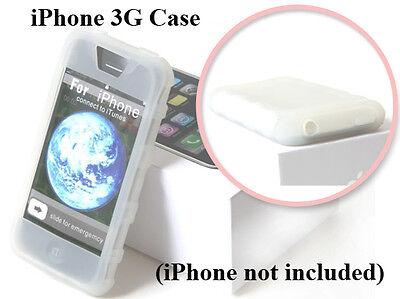 Premium White Silicone Skin Case - IPCS White Apple iPhone 3G Premium Rubber Soft Gel Silicon Skin Case Cover