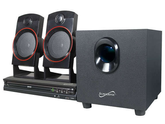 Supersonic SC-35HT Home Theater System 2.1 Channel DVD & Surround Sound Speakers