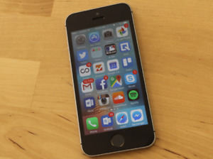 Mint condition Grey iPhone SE 16GM (Bell)