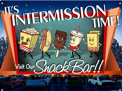 Retro Vintage Movie Theater Intermission sign Home Theater Man Cave