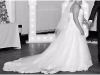 Beautiful full length wedding dress
