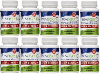 30ct Capsule - Lot of 10 Bottles of Prevagen Extra Strength 20mg, 30ct Capsules!