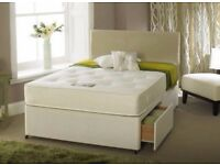 Brand New Double or King Divan Bed with White Orthopedic Mattress -Call now and Book your order