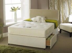 BRAND NEW DOUBLE SINGLE AND KING SIZE DIVAN BED BASE Base With WIDE RANGE OF MATTRESSES