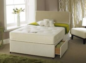 Brand New Double/Small Double Divan Bed Bases with 10inch thick Dual-Sided Full Orthopaedic Mattress