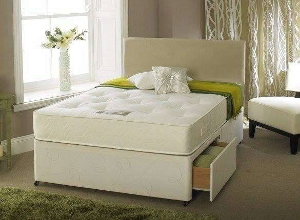 NEWLY ARRIVED DIVAN BED IN SINGLE/DOUBLE & KING SIZE WITH SAME DAY DELIVERY (WHITE & BLACK COLOUR)