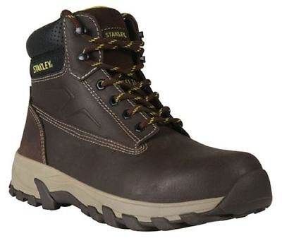 Stanley Tradesman Brown Nubuck Work Safety Boots Size 7
