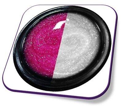 5 ml UV Exclusiv Thermo Farbgel Farbwechsel: Pink-Weiss Glitter Gel Nr.810