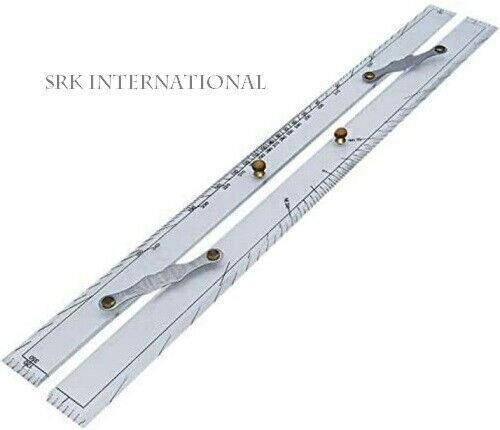 Marine Ruler Parallel Ruler Nautical Charts Parallel Ruler Mapping Points to Pul