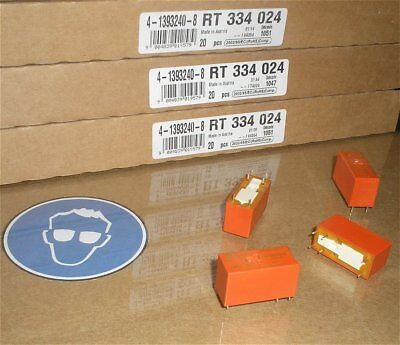 4x Relais Printrelais 24V Volt DC 1S Schließer 16A Schrack RT334024 4-1393240-8  24v Relais