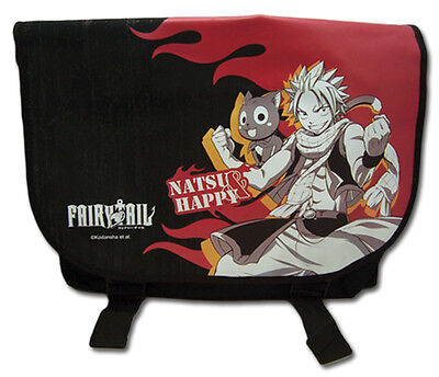 Fairy Tail Bag (**Legit Bag** Fairy Tail Natsu & Happy Fire Authentic Messenger Backpack)