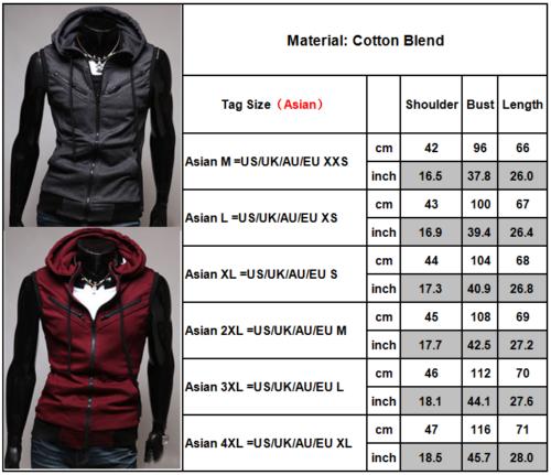 Men Hoodie Sleeveless Vest Tank Top Sports Jacket Gilet Hooded Waistcoat Coat Activewear