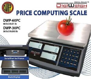 DWP-30PC 30 Lb NTEP Legal For Trade Price Computing Scale