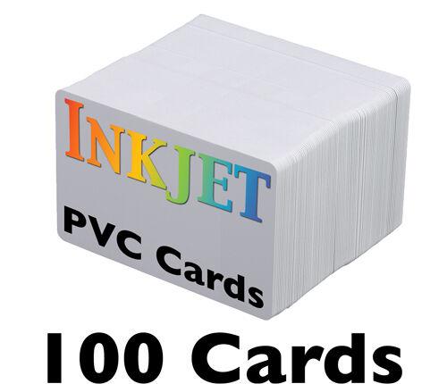 100 Inkjet PVC Cards - For Epson & Canon Inkjet Printers from Brainstorm ID