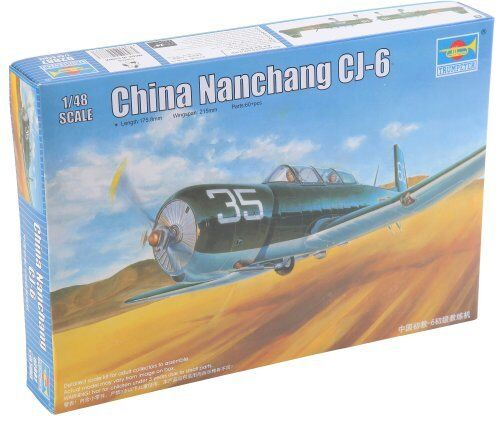 Chinese Air Force Nanchang CJ-6 Primary Trainer Aircraf 1:48 Plastic Model Kit