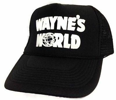 Wayne's World Hat Cap Trucker Hat snapback hat Black Get it fast brand new USA (Wayne's World Hat)