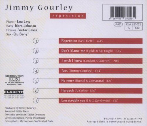 Repetition von Jimmy Gourley (2000), CD