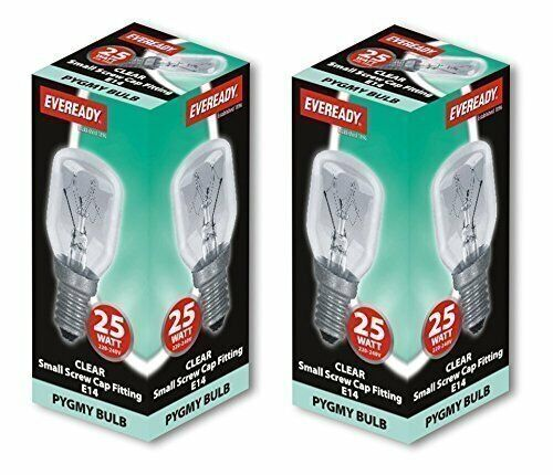2 x 25w Watt SES E14 Appliance Lava Larva Lamp Pygmy Screw in Light Bulbs Lamps