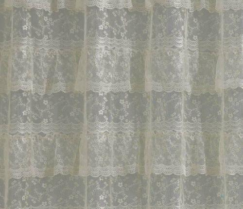 white lace shower curtain ebay