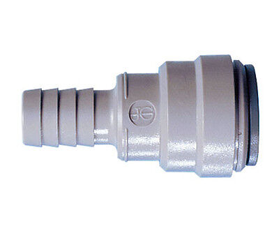 John Guest Barb Connector - John Guest, Speedfit Tube To Hose Connector 15mm Tube OD x 13mm Hose Barb ID