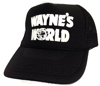 Wayne's World Hat cap adjustable new Black rapid Same day PROCESSING (Wayne's World Hat)