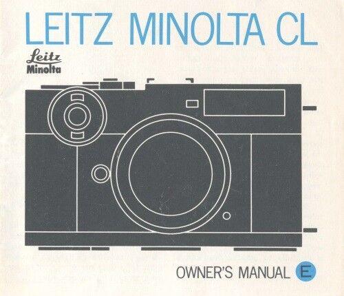 Leitz Minolta CL Instruction Manual