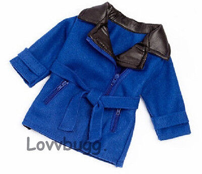 "Lovvbugg No Turning Back Blue Jacket Coat for 18"" American Girl Doll Clothes"