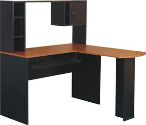 bureau d 39 ordinateur en coin. Black Bedroom Furniture Sets. Home Design Ideas