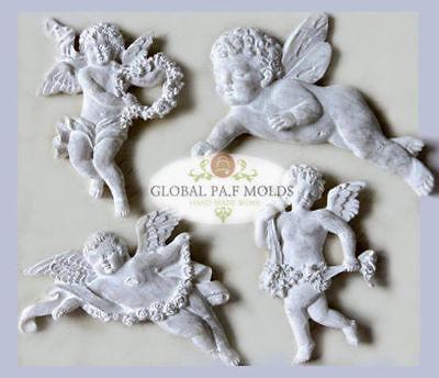 Handmade Silicone Mold /Cake Decoration Mould/angel set mold 65