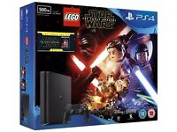 Brand new Unopened PS4 Slim 500gb, with Lego Star Wars Game and Blu-ray Star Wars Force Awakens