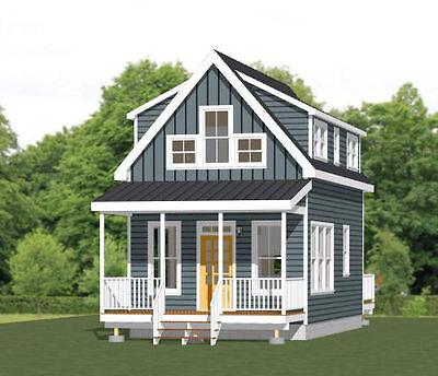 16X28 Tiny House    2 Bedroom    Pdf Floor Plan    810 Sqft    Model 8C