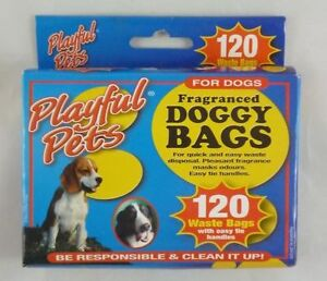 Playful-Pets-Fragranced-Doggy-Bags-120-Waste-Bags-MI53