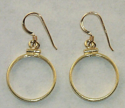Coin Jewelry Earring Findings Cent, Dime, Nickel Coins Gold Filled Bezels Hooks