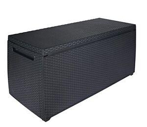 Keter-Plastic-Rattan-Garden-Storage-Box-Anthracite-or-Brown-Waterproof-Lockable