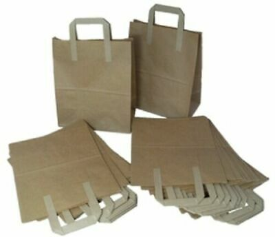 BRAND NEW 50 LARGE BROWN KRAFT PAPER CARRIER SOS BAGS 10x5.5x12.5