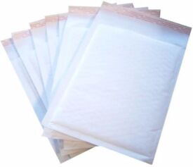 padded envelopes A/000 - C/0 - D1 - F3 (A4) - J6 - K7 all at discount prices gold white