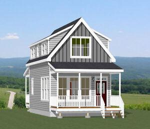 16x30 tiny house 2 bedroom pdf floor plan 878 sq ft model for 16x30 house plans