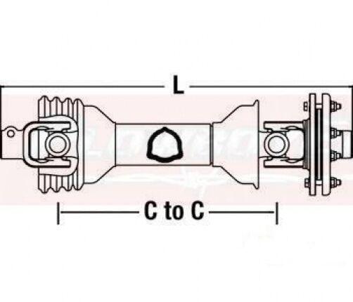King Kutter Tiller Replacement Parts : Cs king kutter rotary tiller pto driveline