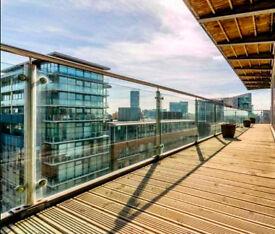 Luxury Studio Apartment with stunning large wraparound balcony in The Edge Building