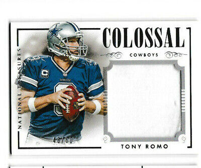 Tony Romo 2014 National Treasures Colossal Game Jersey Patch C-TR Cowboys 48 /60 Tony Romo Jersey