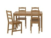 Pine Ikea Jokkmokk Dining Table and 4 Chairs