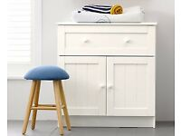 Mothercare Darlington White 1 Drawer Dresser - Childrens Bedroom Storage