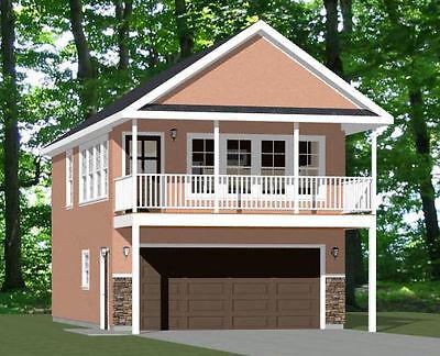 20x32 House -- 1 Bedroom -- 2 Car Garage -- PDF Floor Plan -- Model 6W
