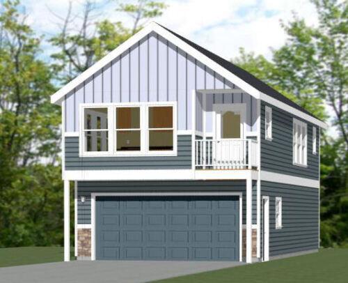 20x42 House - 2 BR 1.5 Bath - 2 Car Garage 1,153 sq ft- PDF FloorPlan - Model 2
