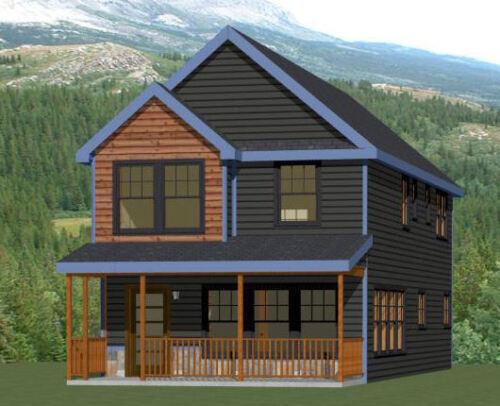 20x42 House - 3 Br 2.5 Bath - 1,570 sq ft- PDF FloorPlan - Model 4A
