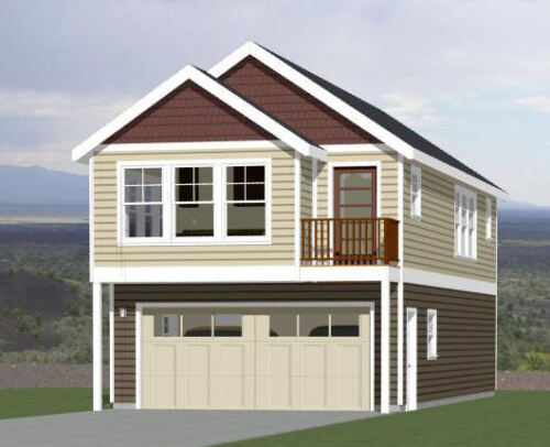 20x42 House - 2 BR 1.5 Bath - 2 Car Garage 1,153 sq ft- PDF FloorPlan - Model 1A