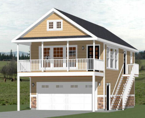 20x32 House -- PDF Floor Plan -- 808 sq ft -- Model 6F